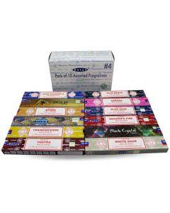 Satya Assorted Pack 5 Incense (12 boxes) 15 grams