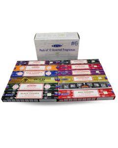 Satya Assorted Pack 4 Incense (12 boxes) 15 grams