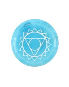 Throat Chakra Meditatie Steen (3 stuks)