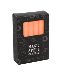 Magic Spell Kaarsen 'Confidence' (Oranje - 12 stuks)