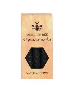 Pack of 6 'Black' Beeswax Spell Candles