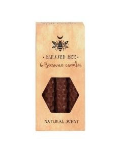 Pack of 6 'Brown' Beeswax Spell Candles