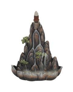 Bronzen Berg Backflow Wierookbrander
