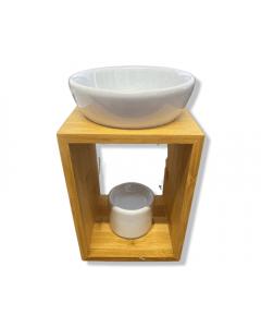 Modern design Aromaburner wood  (8x10x17cm)