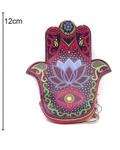 Wallet Lotus Hand of Fatima 12x12cm