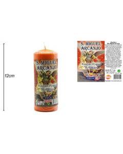 Labeled Candle Archangel Michael 12x4,5cm