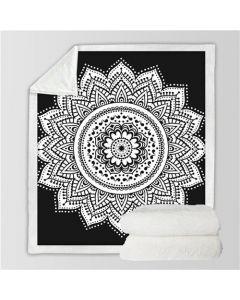 Microvezel Deken Zwart & Wit 130x150cm