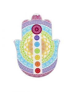 Keramische Tegel Hand of Fatima Mandala 10,5x14,5cm