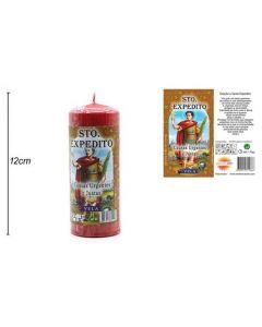 Candle Saint Expedite 12x4,5cm