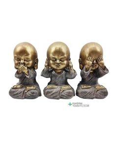 3 Buddhas Blind Deaf Mute 6,2x6,2x13,8 (3 Buddhas)