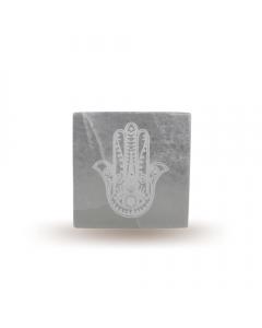 Selenite Incense Holder Hand of Fátima 10cm