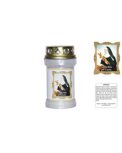 Labeled Candle Sta Rita Cassia
