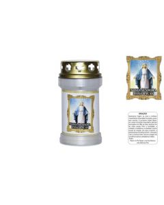 Labeled Candle Our Lady of Fatima