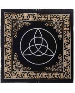 "Cotton Altar cloth 24""x24"" Triquetra"