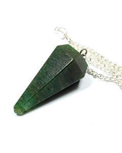 6 Faceted Green Agate Stone