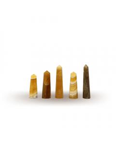 Multi - Colored Fluorite Pencil 6-10cm Set of 5 pieces
