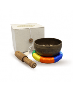 Singing bowl flower of life with box 11 cm
