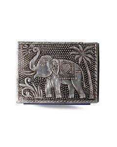 Vintage Aluminium Address Book  Elephant 10 x8 cm