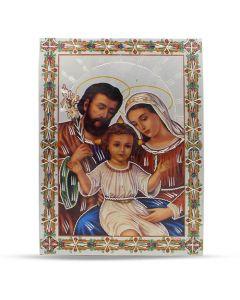 Aluminium Plate Holy Family 21 X 30