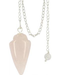 Gemstone Pendulum Curved Rose Quartz