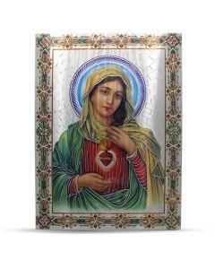 Aluminium Plate Sacred Heart Of Maria 30 X 42