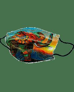 Yogi Mondkapje Colorful Elephant