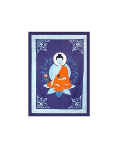 TAPESTRY- COTTON MEDECINE BUDDHA 58x82""