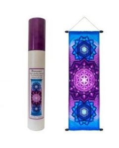 High Quality French Crepe Banner Flower of Life 36 x 90 cms