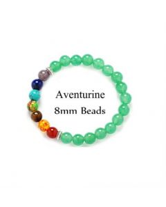 Seven Chakra Aventurine Stone Bracelet 8mm