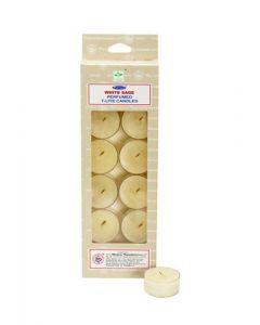 Satya White Sage  T- Lite Candle 14 Gms x 12 pcs