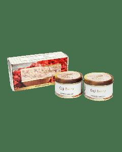 Fleur de Vie  Goji Berry Tin Candle Set of 2