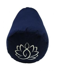 Yoga Bolster Katoenen Canvas - Lotus Navy Blauw