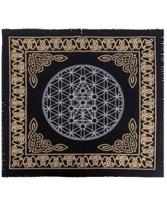 """Cotton Altar cloth 24""""x24""""  Flower of Life Altar Cloth"""