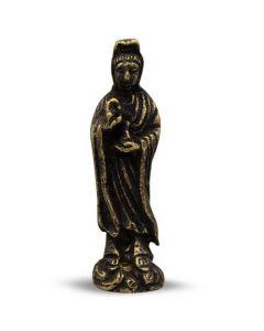 Mini Brass Kuan Yin Statue 4.5cm (12 pcs)
