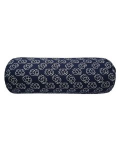 Yoga Bolster Print Navy Blue Lotus