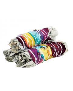 7 Chakra Witte Salie Smudge Stick 10cm (3 stuks)