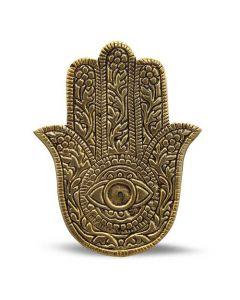 Aluminium Golden Antique Fatima Hand Incense Holder