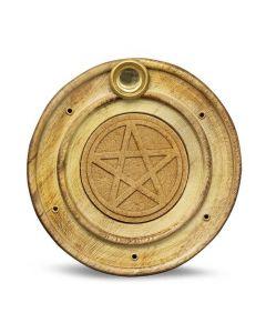 Wooden Incense Holder Pentagram 10 cm