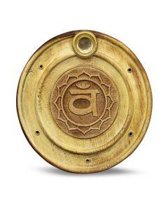Wooden Incense Holder Sacral Chakra 10 cm