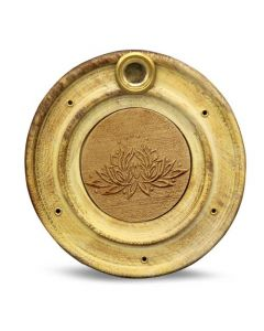 Wooden Incense Holder Lotus 10 cm